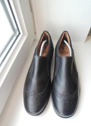 Кожаные ортопедические туфли ganter (австрия) р.41-42