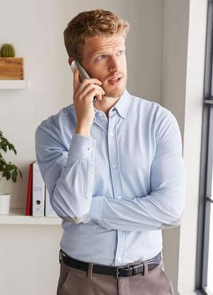 Коттонова рубашка з латками.  європейський розмір хл 56/58