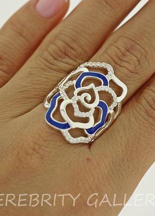 10% скидка - подписчикам! кольцо серебряное размер 18,5. e 1510 b/w каблучка срібна