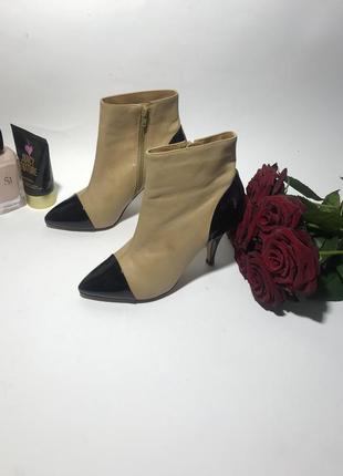 Шикарные ботинки  на каблуке и с острым носком dune 37-38 размер