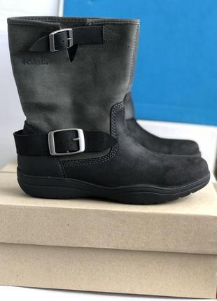 Водонепроницаемые коротенькие ботинки сапоги columbia® elsa на 22 см