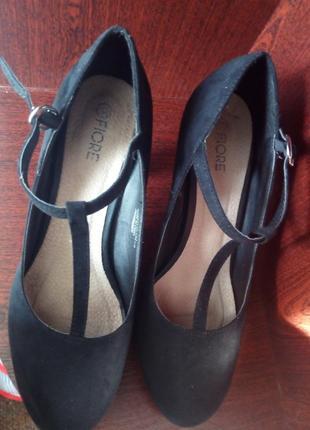 Туфли, оскуственный замш.