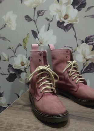 Кожаные ботинки coolway. демисезонные ботиночки. натуральная кожа. coolway.