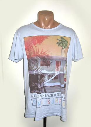 Мужская футболка palm beach florida размер s(m)