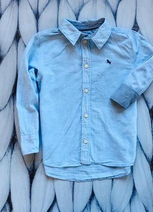 H&m стильная рубашка на мальчика   3-4 года
