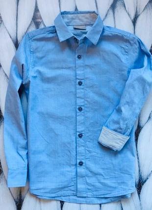Next   стильная рубашка на мальчика  7 лет