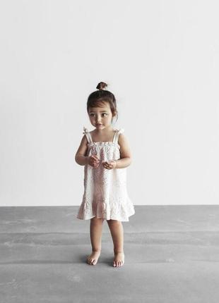 Платье zara с вышивкой.