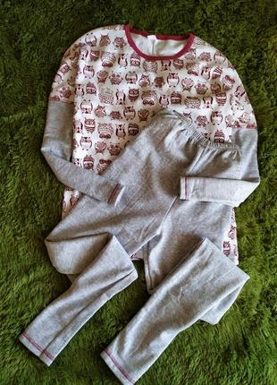 Пижама с совами на байке.