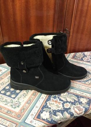 Ботинки  полусапожки зимние замшевые