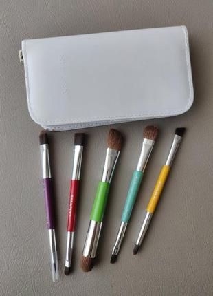 Набор кистей для макияжа shany the double trouble - 5 pc double sided brush set