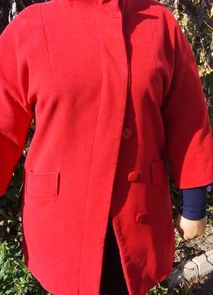 Пальто состояние нового теплое, шерсть,кашемир, осень/весна