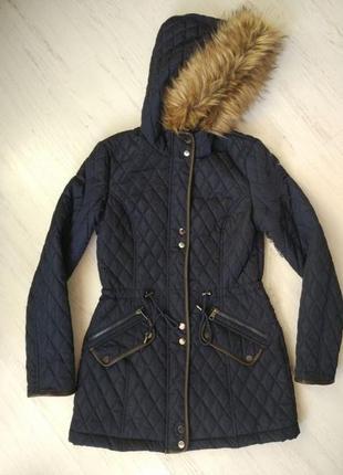 Новая куртка парка 42 s цвет темно-синий