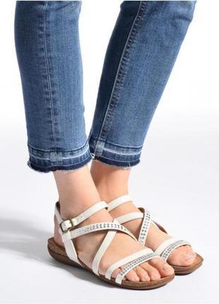 Шикарные кожаные мегаудобные босоножки/сандалии clarks/кожа