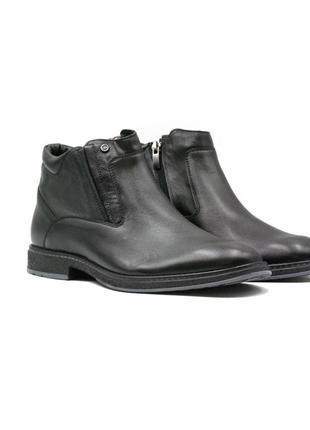 Мужские зимние классические ботинки натуральная кожа в наличии