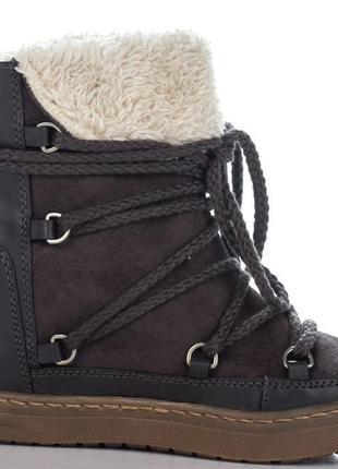 Зимние кожаные ботинки на платформе. сникерсы/сапоги. германия