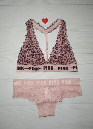 Кружевной комплект белья victoria's secret pink оригинал