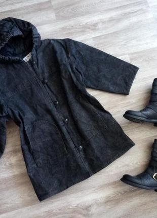 Актуальная джинсовая, утепленная парка _оверсайз,  осень, еврозима  unity fashion