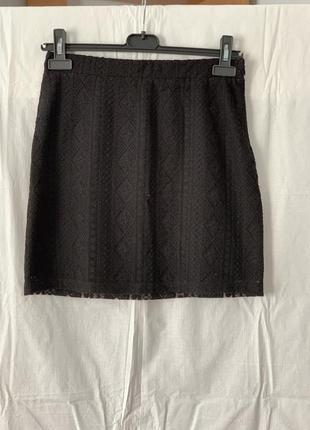 Черная кружевная юбка clockhouse