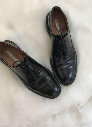 Кожаные туфли броги 36-37