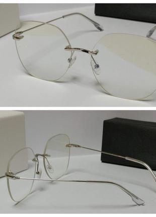 Стильные женские очки для имиджа без оправные и для работы за компьютером!