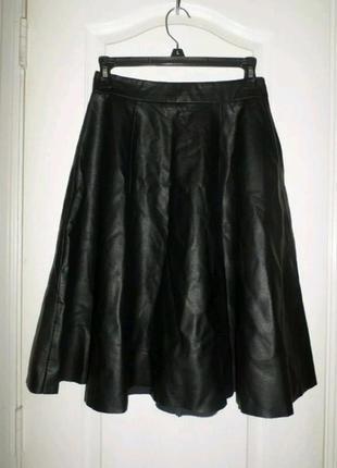 Кожанная юбка миди (эко кожа) от forever 21