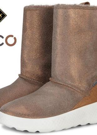 Новые зимние мембранные сапоги ботинки ecco ukiuk kids 34 35 р.оригинал