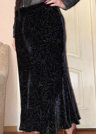 Бархатная шёлковая юбка с-м viella