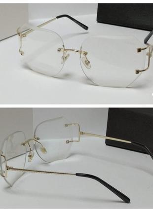 Безободковые очки для имиджа.