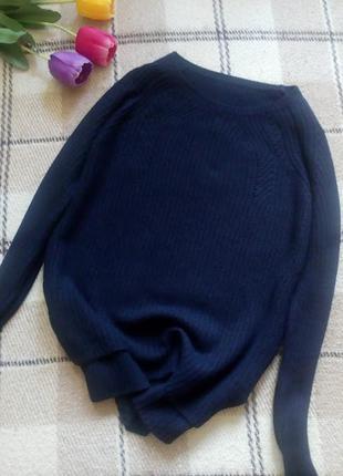 Красивенный свитер с кашемиром и ангорой свитер темно синего цвета