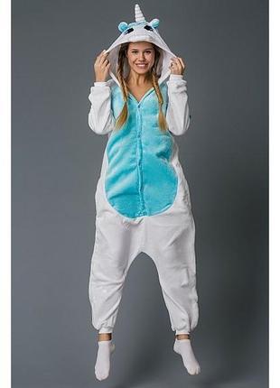 ❗наложенный❗акция❗оригинальная пижама кигуруми пегас голубой