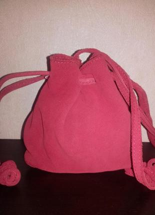 Новая замшевая женская сумочка
