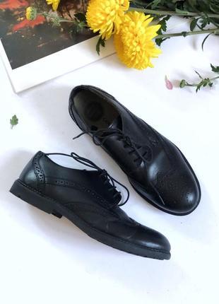Кожаные броги туфли чёрные george, размер 37
