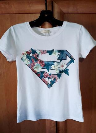 Футболка супермен (супергёрл, супергерл, супермэн,supergirl, superman, супергерой)