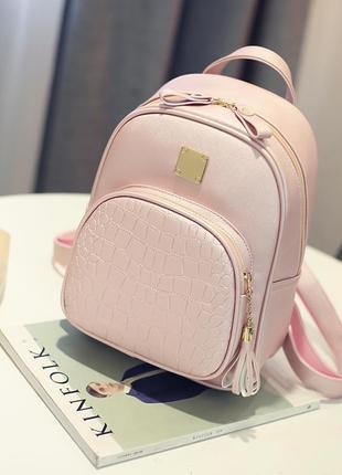 Молодежный женский городской рюкзак из pu кожи с кисточкой merci, 4 цвета