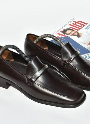 Paul green оригинал мужские туфли мокасины на осень кожаные коричневые размер 40