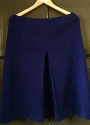 Синяя юбка джерси из высококачественной шерсти (германия)