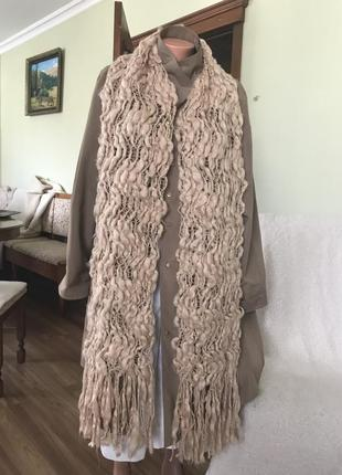 Настоящий шерстяной длинный шарф