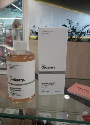 Тонер з гліколієвою кислотою the ordinary - glycolic acid 7% 240 мл