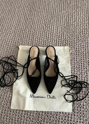 Туфли massimo dutti , р38, новые, замшевые
