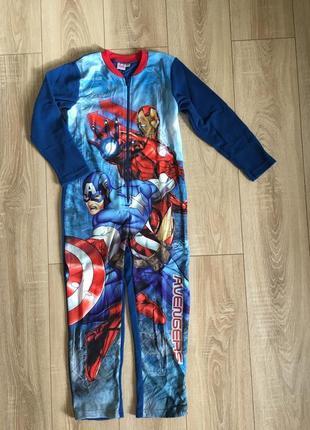 Флисовый комбинезон слип пижама  marvel avengers