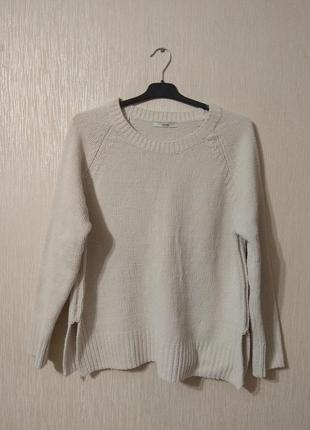 Молочный белый мягкий пуловер свитер george большой размер 16-18 2xl-3xl