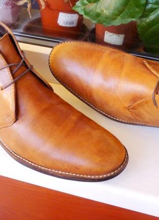 """Очень мягкие и прочные кожаные ботинки """"next""""!!! англия!! 44 р."""