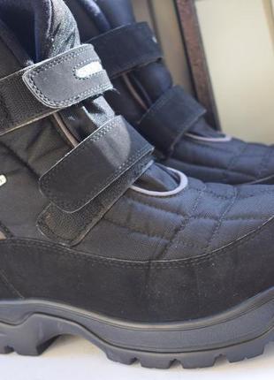 Зимние ботинки с ледоступами sympa tex мембранные на липучках