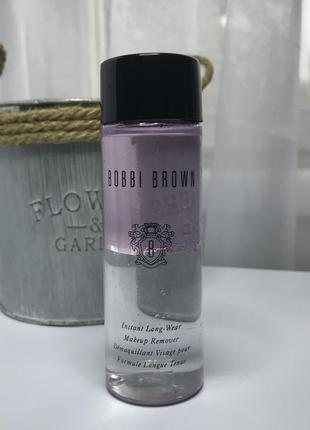 Жидкость для снятия макияжа bobbi brown instant long wear pink, 100 мл