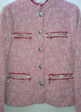 Актуальный твидовый пиджак /жакет /блейзер в стиле шанель zara basic morocco