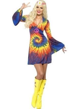 Ретро хиппи 60х 70х карнавальный костюм 44