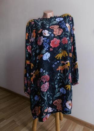 Лёгкое вискозное платье в цветы