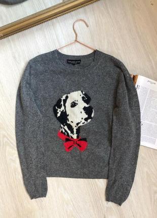 Качественный тёплый свитер с принтом