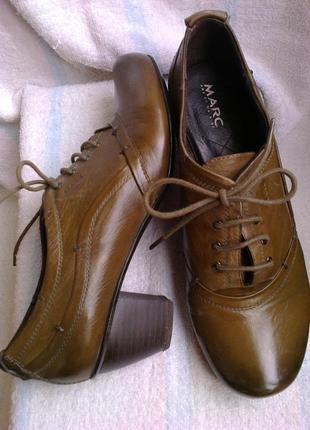 100%кожа туфли marc ( германия)