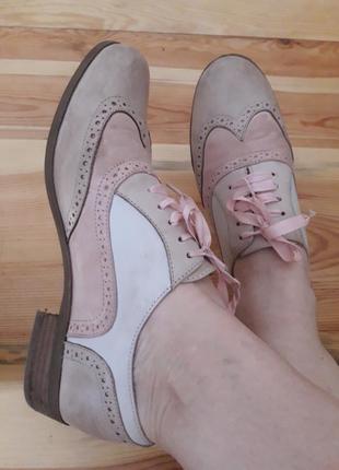 Брендовые кожаные туфельки